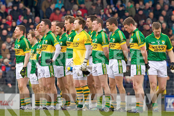 Kerry team before they played Cork in the National Football League at Austin Stack park, Tralee on Sunday.