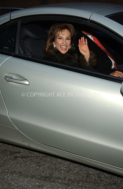 WWW.ACEPIXS.COM . . . . . ....NEW YORK, DECEMBER 16, 2004....Susan Lucci leaving 2004 Muse Luncheon.....Please byline: ACE006 - ACE PICTURES.. . . . . . ..Ace Pictures, Inc:  ..Alecsey Boldeskul (646) 267-6913 ..Philip Vaughan (646) 769-0430..e-mail: info@acepixs.com..web: http://www.acepixs.com