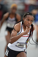 NWA Democrat-Gazette/ANDY SHUPE<br /> Arkansas' Kethlin Campbell leaves the blocks as she competes Saturday, May 11, 2019, in the 400 meters during the SEC Outdoor Track and Field Championships at John McDonnell Field in Fayetteville. Visit nwadg.com/photos to see more photographs from the meet.