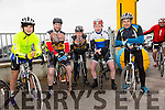 Danny Browne, Jonathan McCarthy, Seamus O'Mahony, Mark Ryall and Peter Browne at the St Kieran's GAA Cycle Tour on Sunday starting in the  Desmonds GAA Grounds