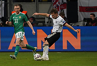 Joshua Kimmich (Deutschland Germany) gegen Shane Ferguson (Nordirland, Northern Ireland) - 19.11.2019: Deutschland vs. Nordirland, Commerzbank Arena Frankfurt, EM-Qualifikation DISCLAIMER: DFB regulations prohibit any use of photographs as image sequences and/or quasi-video.