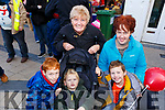 Mary, Michael, Peter, Conor and Diane Faggetter from Casements Ave enjoying the Christmas Parade on Saturday in Tralee.