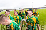 Kilmoyley players after a draw in the County Senior Hurling Final at Austin Stack Park on Sunday.