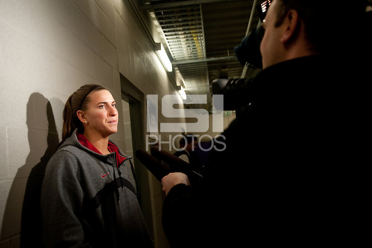 SPOKANE, WA - MARCH 27, 2011: Jeanette Pohlen, during the off-day press conferences, Stanford Women's Basketball, NCAA West Regionals on March 27, 2011.