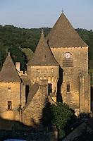 Europe/France/Aquitaine/24/Dordogne/Vallée de la Dordogne/Périgord/Périgord Noir/Env de Sarlat-la-Canéda/Saint-Geniès: Les toits en lauze (ou lause)