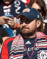 New England Revolution fan..  In a Major League Soccer (MLS) match, FC Dallas (red) defeated the New England Revolution (blue), n-n, at Gillette Stadium on March 30, 2013.