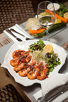Tandoori prawns served at Achill's restaurant, Villefranche-sur-Mer, France, 7 September 2012