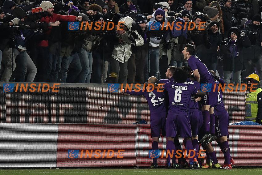 Esultanza Gol Federico Chiesa Fiorentina goal celebratoin 0-2 <br /> Firenze 15-01-2017 Stadio Artemio Franchi Football Campionato Serie A 2016/2017 <br /> Fiorentina - Juventus <br /> Foto Andrea Staccioli / Insidefoto