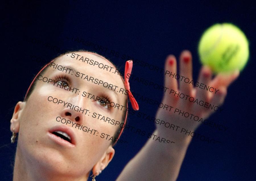 Tenis, Federation Cup.Serbia Vs. Holland.Jelena Jankovic Vs. Arantxa Rus.Budapest, 02.02.2008..foto: Srdjan Stevanovic