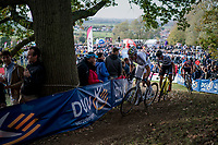 Wout Van Aert (BEL/Crelan-Charles), Toon Aerts (BEL/Telenet Fidea Lions) &amp; Mathieu van der Poel (NED/Beobank-Corendon) in pursuit of Lars Van der Haar<br /> <br /> Elite Men's race<br /> Koppenbergcross / Belgium 2017