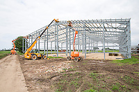 Constructing a 6,000 tonne box potato store - South Lincolnshire, May