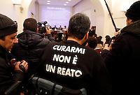 Un momento della conferenza stampa dei genitori di pazienti in cura presso gli Spedali Riuniti di Brescia col metodo Stamina, a Roma, 28 dicembre 2013.<br /> UPDATE IMAGES PRESS/Riccardo De Luca