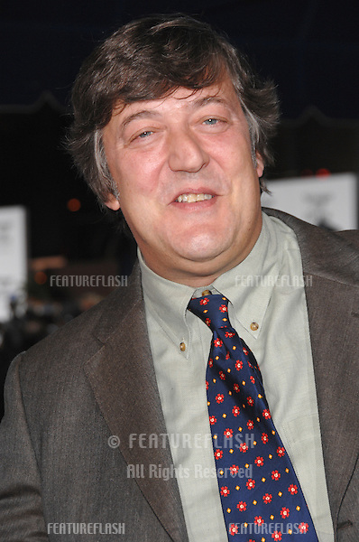 "STEPHEN FRY at the Los Angeles premiere of ""Stranger than Fiction""..October 30, 2006  Los Angeles, CA.Picture: Paul Smith / Featureflash"