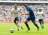 Chelsea's Alvaro Morata and Tottenham's Toby Alderweireld during the Premier League match between Tottenham Hotspur and Chelsea at Wembley Stadium, London, England on 20 August 2017. Photo by Andrew Aleksiejczuk / PRiME Media Images.