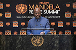 Opening Plenary Meeting of the Nelson Mandela Peace Summit<br /> <br /> His Excellency George Manneh WEAHPresident of the Republic of Liberia