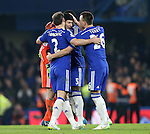 Chelsea's players celebrate with Petr Cech at the final whistle<br /> <br /> Barclays Premier League- Chelsea vs Everton  - Stamford Bridge - England - 11th February 2015 - Picture David Klein/Sportimage