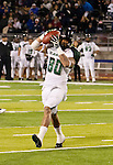 November 12, 2011:Hawaii receiver Jeremiah Ostrowski makes a catch in the third quarter during a WAC league game vs Nevada played at Mackay Stadium in Reno, Nevada.