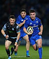 28th February 2020; RDS Arena, Dublin, Leinster, Ireland; Guinness Pro 14 Rugby, Leinster versus Glasgow; Luke McGrath (Leinster) makes a clean break