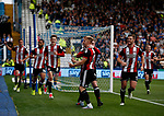Mark Duffy of Sheffield Utd celebrates scoring the third goal during the Championship match at the Hillsborough Stadium, Sheffield. Picture date 24th September 2017. Picture credit should read: Simon Bellis/Sportimage