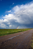 Thunderhead just passed with a small rainbow