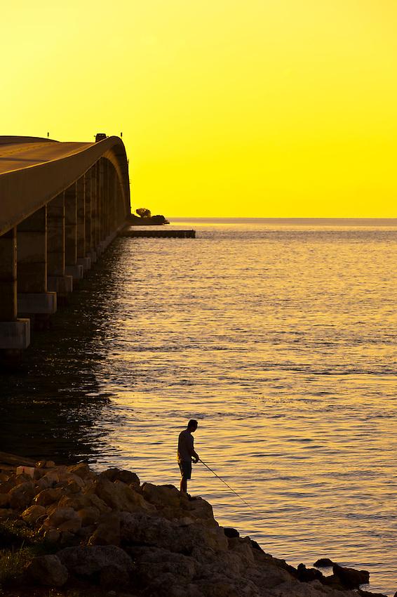 Bridge at sunrise, Florida Keys, Florida USA