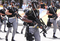 MEDELLÍN - COLOMBIA, 20-07-2014. Aspecto del desfile militar del 20 de Julio, en conmemoración del Día de la Independencia de Colombia, por las calles de Medellín./ Aspecto of the 20th July military parade, in conmemoration of the Independence Day in Colombia, by the streets of Medellín . Photo: VizzorImage/Luis Rios/STR
