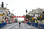 Riders recon the course before Stage 1 of the 101st edition of the Giro d'Italia 2018 an individual time trial of 9.7km around Jerusalem, Israel. 4th May 2018.<br /> Picture: LaPresse/Fabio Ferrari | Cyclefile<br /> <br /> <br /> All photos usage must carry mandatory copyright credit (&copy; Cyclefile | LaPresse/Fabio Ferrari)