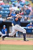 Columbia Fireflies left fielder Kevin Kaczmarski (10) swings at a pitch during a game against the Asheville Tourists at McCormick Field on June 17, 2016 in Asheville, North Carolina. The Tourists defeated the Fireflies 6-2. (Tony Farlow/Four Seam Images)
