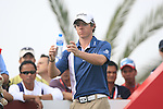 Rory McIlroy waits to tee off on the 14th tee during the Final Day Sunday of the Abu Dhabi HSBC Golf Championship, 23rd January 2011..(Picture Eoin Clarke/www.golffile.ie)