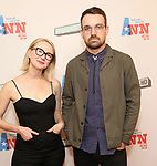 Halley Feiffer and Micha Stock attend a Special Broadway HD screening of Holland Taylor's 'Ann' at the the Elinor Bunin Munroe Film Center on June 14, 2018 in New York City.