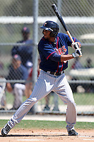 March 18, 2010:  Right Fielder Aaron Hicks (55) of the Minnesota Twins organization during Spring Training at the Ft. Myers Training Complex in Ft. Myers, FL.  Photo By Mike Janes/Four Seam Images
