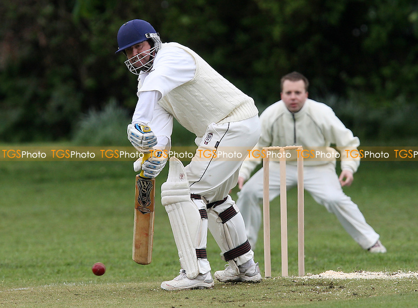 K Thain in batting action for Havering - Boreham CC vs Havering-atte-Bower CC - Mid-Essex Cricket League - 08/05/10 - MANDATORY CREDIT: Gavin Ellis/TGSPHOTO - Self billing applies where appropriate - Tel: 0845 094 6026