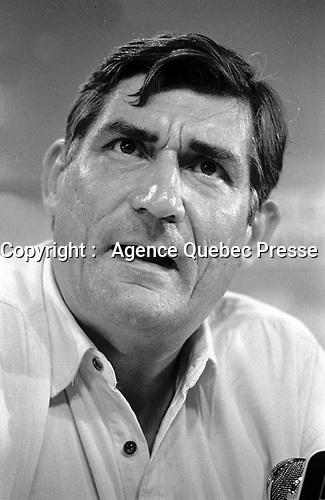 Montreal, Canada - File Photo - French filmmaker Jean-Claude Brisseau (R) news conference at the World Film Festival, August 31, 1988 for his movie DE BRUIT ET DE FUREUR.<br /> <br /> Photo :  Agence Quebec Presse - Pierre Roussel<br /> <br /> <br /> PHOTO :  Agence Quebec Presse <br /> Montreal, Canada - File Photo - French filmmaker Jean-Claude Brisseau (R) news conference at the World Film Festival, August 31, 1988 for his movie DE BRUIT ET DE FUREUR.<br /> <br /> PHOTO :  Agence Quebec Presse