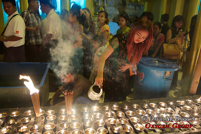 Adding Oil, Festival Of The Moon, Shwedagon Pagoda