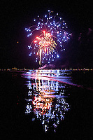 Fireworks at historic Naples Fishing Pier along Gulf of Mexico, Naples, Florida, USA, July 4, 2011. Photo by Debi Pittman Wilkey