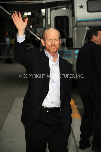 WWW.ACEPIXS.COM . . . . . ....May 14 2009, New York City....Director Ron Howard made an appearance at the 'Late Show with David Letterman' at the Ed Sullivan Theatre on May 14 2009 in New York City....Please byline: KRISTIN CALLAHAN - ACEPIXS.COM.. . . . . . ..Ace Pictures, Inc:  ..tel: (212) 243 8787 or (646) 769 0430..e-mail: info@acepixs.com..web: http://www.acepixs.com