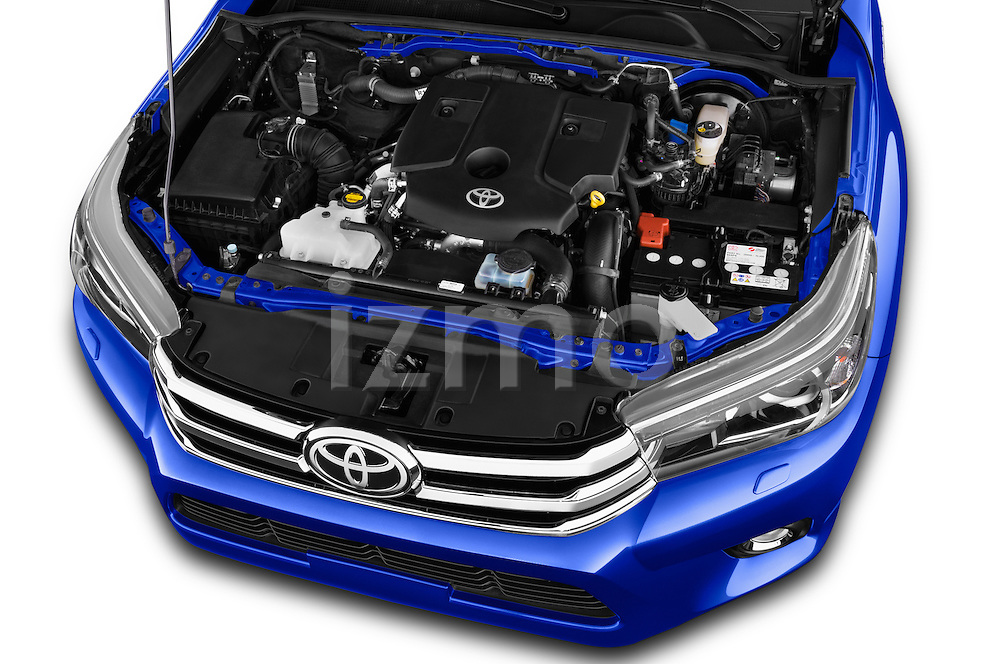 Car Stock 2017 Toyota Hilux Comfort 2 Door Pickup Engine  high angle detail view