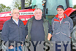 Michael Curtin Templeglantine, John Lyons Duagh and Tom McAulliffe Abbeyfeale at the Tractor run in Castleisland on Sunday