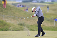 Paul Waring (ENG) plays his 2nd shot on the 17th hole during Saturday's Round 3 of the Dubai Duty Free Irish Open 2019, held at Lahinch Golf Club, Lahinch, Ireland. 6th July 2019.<br /> Picture: Eoin Clarke | Golffile<br /> <br /> <br /> All photos usage must carry mandatory copyright credit (© Golffile | Eoin Clarke)