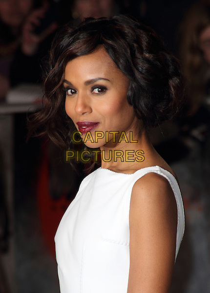 Kerry Washington.The UK Premiere of 'Django Unchained', Empire Leicester Square, London, England..January 10th 2013.headshot portrait side red lipstick white sleeveless  .CAP/ROS.©Steve Ross/Capital Pictures