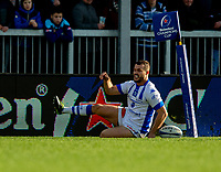 Castres Taylor Paris scores his sides first try<br /> <br /> Photographer Bob Bradford/CameraSport<br /> <br /> European Rugby Heineken Champions Cup Pool 2 - Exeter Chiefs v Castres - Sunday 13th January 2019 - Sandy Park - Exeter<br /> <br /> World Copyright &copy; 2019 CameraSport. All rights reserved. 43 Linden Ave. Countesthorpe. Leicester. England. LE8 5PG - Tel: +44 (0) 116 277 4147 - admin@camerasport.com - www.camerasport.com