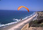 para-gliding near Torrey Pines