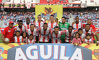 BARRANQUILLA  -COLOMBIA, 17-09-2016. Formación del  Junior   durante encuentro contra Once Caldas  por la fecha 13 de la Liga Aguila II 2016 disputado en el estadio Metropolitano Roberto Meléndez ./Team of    Junior  agaisnt Once Caldas during match for the date 13 of the Aguila League II 2016 played at Metropolitano Roberto Melendez stadium . Photo:VizzorImage / Alfonso Cervantes  / Contribuidor