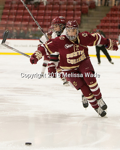 Megan Keller (BC - 4) - The visiting Boston College Eagles defeated the Harvard University Crimson 2-0 on Tuesday, January 19, 2016, at Bright-Landry Hockey Center in Boston, Massachusetts.