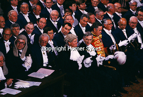 City of London Lord Mayors Banquet in the Guild Hall. London England 1992.