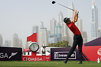 Jeunghun  Wang (KOR) in action during the first round of the Omega Dubai Desert Classic, Emirates Golf Club, Dubai, UAE. 24/01/2019<br /> Picture: Golffile | Phil Inglis<br /> <br /> <br /> All photo usage must carry mandatory copyright credit (&copy; Golffile | Phil Inglis)