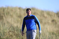 Eoin Murphy (Dundalk) on the 11th tee during Round 3 of the Ulster Boys Championship at Royal Portrush Golf Club, Valley Links, Portrush, Co. Antrim on Thursday 1st Nov 2018.<br /> Picture:  Thos Caffrey / www.golffile.ie<br /> <br /> All photo usage must carry mandatory copyright credit (&copy; Golffile | Thos Caffrey)
