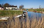 Norfolk Broads landscape at West Somerton, Norfolk, England