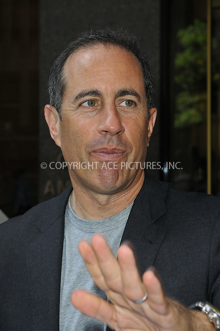 WWW.ACEPIXS.COM<br /> <br /> June 26 2013, New York City<br /> <br /> Jerry Seinfeld went to Sirius Radio on June 26 2013 in New York City<br /> <br /> By Line: Romeo/ACE Pictures<br /> <br /> <br /> ACE Pictures, Inc.<br /> tel: 646 769 0430<br /> Email: info@acepixs.com<br /> www.acepixs.com