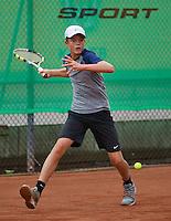 August 8, 2014, Netherlands, Rotterdam, TV Victoria, Tennis, National Junior Championships, NJK,  Christian Lerby (NED)<br /> Photo: Tennisimages/Henk Koster